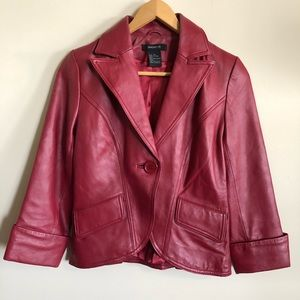 Arden B. Red Leather Jacket XS Moto Jacket